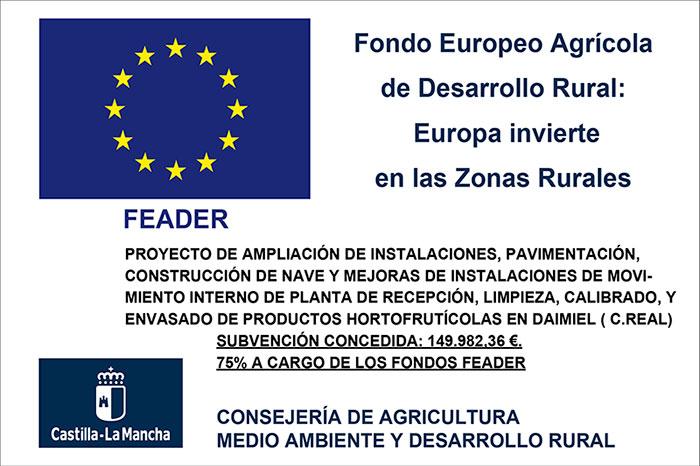 Placa Fondo Europeo Agrícola de Desarrollo Rural